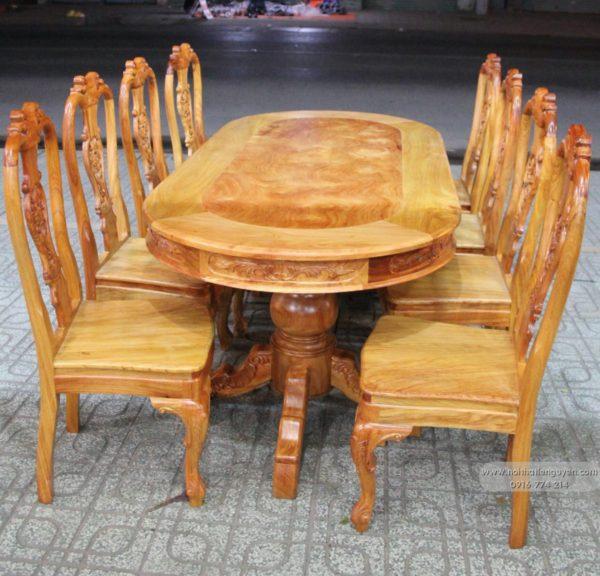 Bộ bàn ghế ăn gỗ gõ đỏ