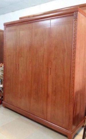 Tủ quần áo gỗ gội 4 buồng