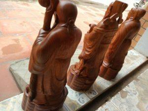 Tượng gỗ Bộ Ba Tam Đa gỗ Hương Đỏ, Hương Lào