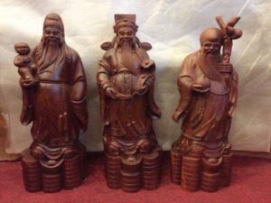 Tượng gỗ Bộ Ba Tam Đa gỗ Hương Đỏ, Hương Lào 2