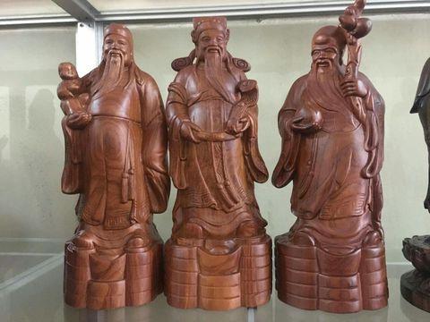 Tượng gỗ Bộ Ba Tam Đa gỗ Hương Đỏ, Hương Lào 1